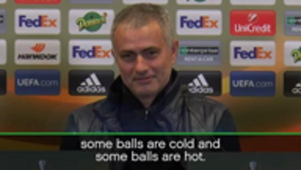 'Cold balls' Mourinho hints at Europa foul play