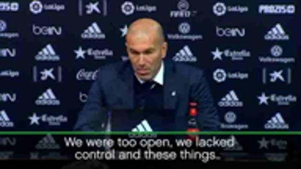 We were too open - Zidane