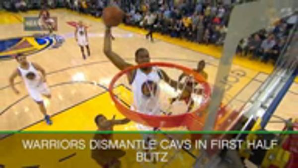 Warriors blitz Cavs in rout