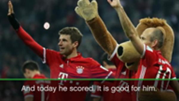 Ancelotti happy with Muller for breaking goalless streak