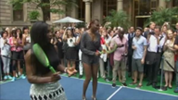 Nadal and Williams sisters play virtual tennis