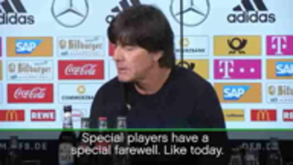 Loew delighted by 'special farewell' for Podolski