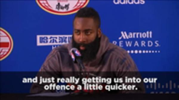 Harden happy with positional change