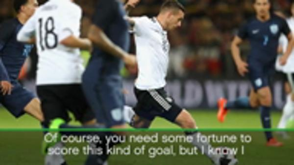 My left foot probably from God - Podolski