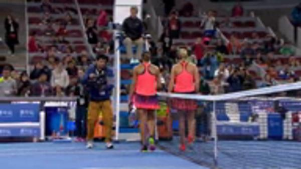 Keys battles past Kvitova