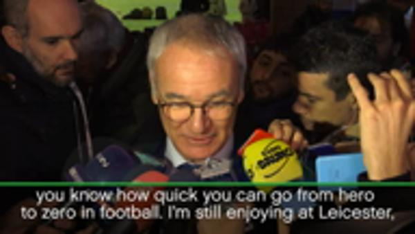 Ranieri 'very happy' at Leicester