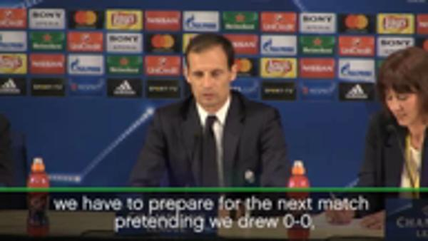 We will pretend we drew 0-0 for second leg - Allegri
