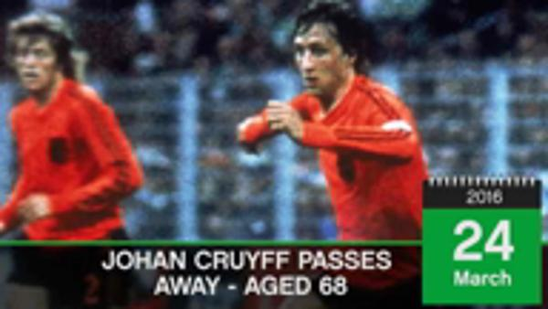 On this Day: Johann Cruyff passes away