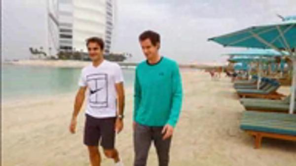 Tennis: Federer and Murray warm into 25th Dubai championships on beach